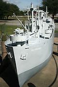 A large model of a Navy Destroyer, City of Brunswick, in the Brunswick port park commons. Brunswick Georgia.