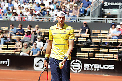 May 24, 2018 - Lyon, France - QUARTERFINAL J.ISNER  DURING THE MATCH FOR  ATP 250 IN LYON 24.05.2018 (Credit Image: © Panoramic via ZUMA Press)
