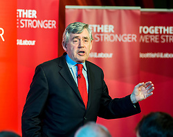 Former Prime Minister Gordon Brown gives a speech at a campaign event in Kirkcaldy.<br /> <br /> © Dave Johnston/ EEm