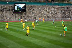 Nk Domzale players before football match between NK Domzale and FC Lusitanos Andorra in second leg of UEFA Europa league qualifications on July 7, 2016 in Andorra la Vella, Andorra. Photo by Ziga Zupan / Sportida