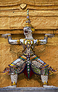 Guardian mythical demon or Yaksha at The Grand Palace; Bangkok, Thailand.