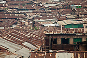Nairobi, June 2010 -  overview of Kibera slum from the second level of the Siloam Ministry Academy School and Orphanage.