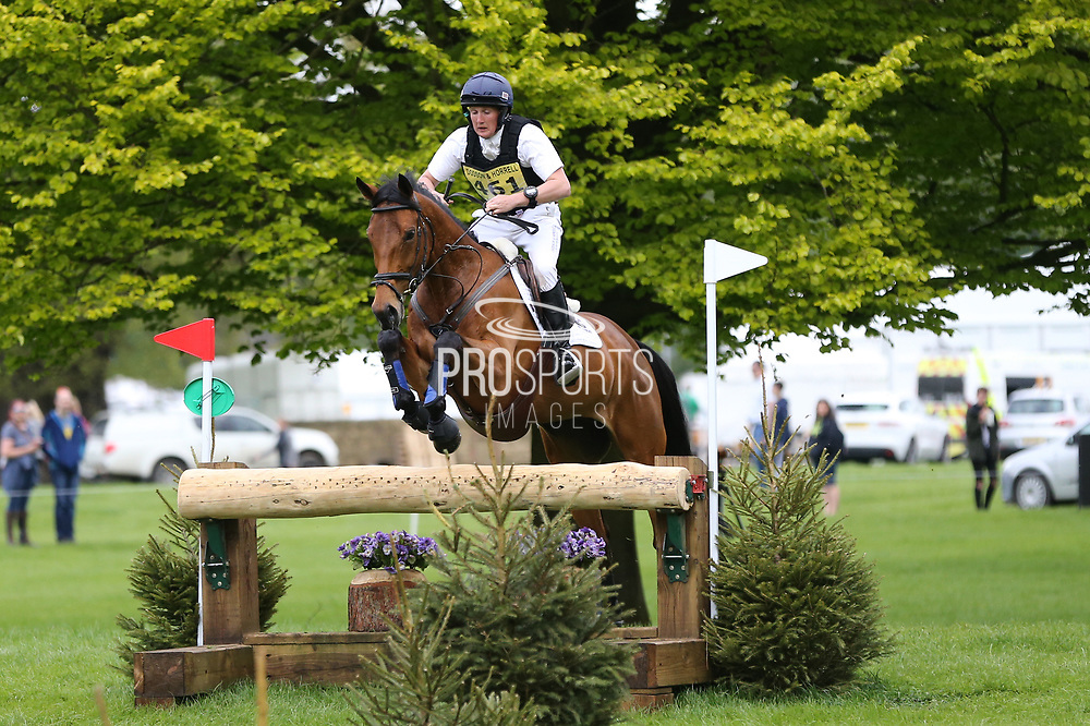 Aaron Millar riding Gold Flush during the International Horse Trials at Chatsworth, Bakewell, United Kingdom on 12 May 2018. Picture by George Franks.