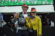 Fans in German Dress during the PDC World Darts Championship Final at Alexandra Palace, London, United Kingdom on 3 January 2016. Photo by Phil Duncan.