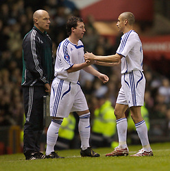 Manchester, England - Tuesday, March 13, 2007: Europe XI's Robbie 'God' Fowler prepares to come on as a substitute for captain Hernrik Larsson against Manchester United during the UEFA Celebration Match at Old Trafford. (Pic by David Rawcliffe/Propaganda)