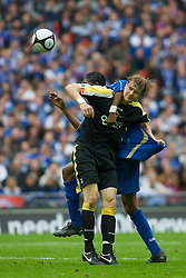 LONDON, ENGLAND - Saturday, May 17, 2008: Cardiff City's Glenn Loovens and Portsmouth's Nwankwo Kanu during the FA Cup Final at Wembley Stadium. (Photo by Chris Ratcliffe/Propaganda)