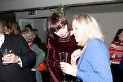 CAROL RYAN, Party for Perfect Lives by Polly Sampson. The 20th Century Theatre. Westbourne Gro. London W11. 2 November 2010. -DO NOT ARCHIVE-© Copyright Photograph by Dafydd Jones. 248 Clapham Rd. London SW9 0PZ. Tel 0207 820 0771. www.dafjones.com.