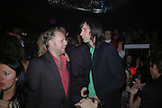 Joe Corre and Bobby Gillespie. Agent Provocateur: Dirty Stop Out -  web site launch party. Too 2 Much, 11-12 Walkers Court, London, W1, 13 September 2005. ONE TIME USE ONLY - DO NOT ARCHIVE  © Copyright Photograph by Dafydd Jones 66 Stockwell Park Rd. London SW9 0DA Tel 020 7733 0108 www.dafjones.com