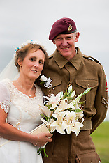 1940s reenactors wedding at Lytham Saint Annes