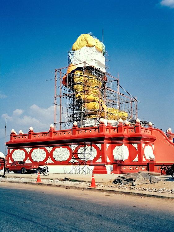 Giant Buddha under construction