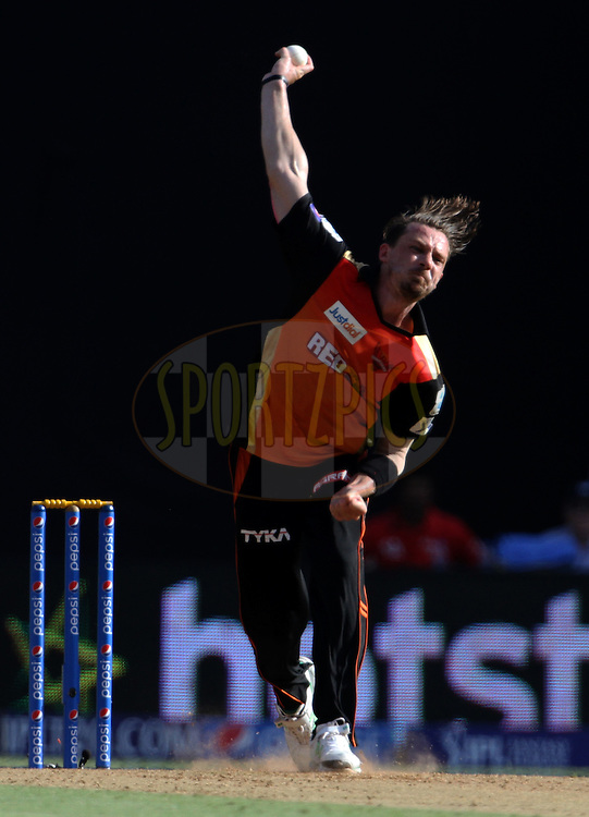 Sunrisers Hyderabad player Dale Steyn bowls during match 23 of the Pepsi IPL 2015 (Indian Premier League) between The Mumbai Indians and The Sunrisers Hyderabad held at the Wankhede Stadium in Mumbai India on the 25th April 2015.<br /> <br /> Photo by:  Vipin Pawar / SPORTZPICS / IPL