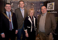09/01/2017 Conor O'Dowd, President, Galway Chamber Sean Kyne, TD, Mary Dooley, Chair, Galway Music CentreSenator Trevor Ó Clochartaigh  in the Mick Lally Theatre , Druid for the launch of the Galway Music Centre. Photo: Andrew Downes,  xposure