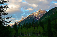 Sunrise Over Pyramid Peak From Silver Bell Campground