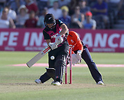 Amelia Kerr is lbw during the international T20 between England Women and the White Ferns at the Brightside Ground, Bristol. Photo: Graham Morris/www.photosport.nz 28/06/18 NZ USE ONLY