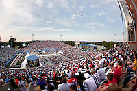07 August 2010: The Pro Football Hall of Fame enshrinement ceremony at Faucett Stadium in Canton, Ohio.
