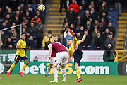 Arsenal defender Shkodran Mustafi hy kick challenge the opponent during the Premier League match between Burnley and Arsenal at Turf Moor, Burnley, England on 2 February 2020.