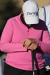 March 22, 2019 - Phoenix, AZ, U.S. - PHOENIX, AZ - MARCH 22: Angela Stanford relaxes before the second round of the Bank of Hope LPGA Golf Tournament at the Wildfire Golf Club at JW Marriott Phoenix Desert Ridge Resort & Spa, March 22, 2019 in Phoenix, Arizona (Photo by Will Powers/Icon Sportswire) (Credit Image: © Will Powers/Icon SMI via ZUMA Press)