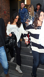 Model Cara Delevingne and girlfriend actress Michelle Rodriguez visit Storm Models management in London, UK. 06/03/2014<br />BYLINE MUST READ : JAMESY/GOTCHA IMAGES<br /><br />Copyright by © Gotcha Images Ltd. All rights reserved.<br />Usage of this image is conditional upon the acceptance <br />of Gotcha Images Ltd, terms and conditions available at<br />www.gotchaimages.com