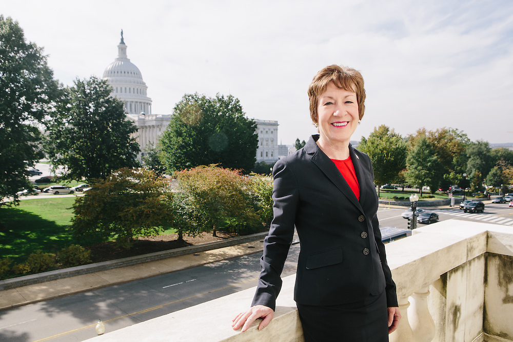 Sen. Susan Collins, R-Maine, led a bi-partisan group of senators to end the government shutdown. Photo by : Lexey Swall/GRAIN