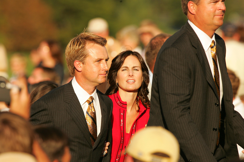 David Toms.Sonya Toms..2004 Ryder Cup Matches.Thursday, September16 2004.Oakland Hills CC.Bloomfield Hills, MI..photograph by Darren Carroll