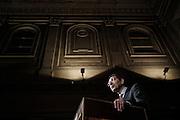 Ignazio Marino, candidato sindaco del Partito Democratico a Roma, al teatro Capranica durante un incontro con i suoi lettori. Roma, 28 maggio 2013. Christian Mantuano /  Oneshot
