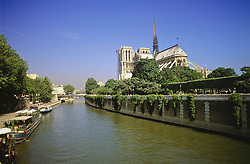 July 21, 2019 - Notre Dame Cathedral And Seine River, Paris, France (Credit Image: © Bilderbuch/Design Pics via ZUMA Wire)