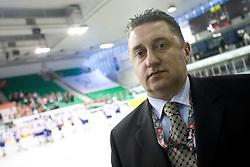 Croatian team leader Dragutin Ljubic at IIHF Ice-hockey World Championships Division I Group B match between National teams of Hungary and Croatia, on April 20, 2010, in Tivoli hall, Ljubljana, Slovenia.  (Photo by Vid Ponikvar / Sportida)