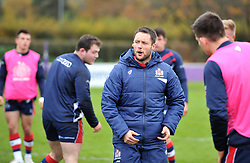 Bristol Rugby S&C coach Jonathan Harris-Wright leads players through warm-up exercises - Mandatory by-line: Paul Knight/JMP - 18/11/2017 - RUGBY - Clifton RFC - Bristol, England - Bristol United v Gloucester United - Aviva A League