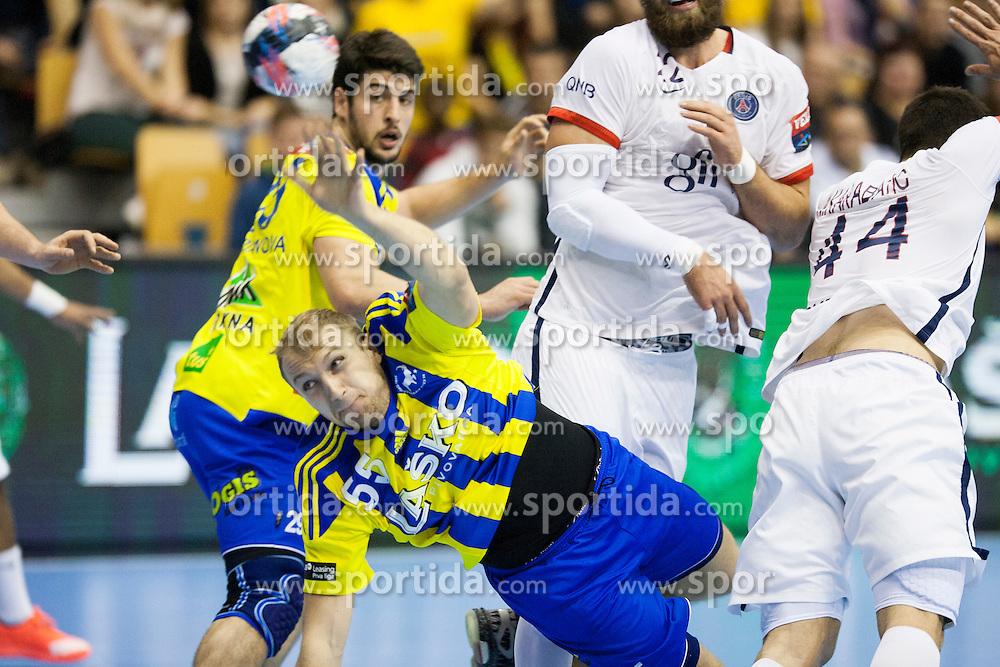 Ziga Mlakar of RK Celje Pivovarna Lasko during handball match between RK Celje Pivovarna Lasko (SLO) and Paris Saint-Germain (FRA) in Round #5 of Group Phase of EHF Champions League 2015/16, on October 18, 2015 in Arena Zlatorog, Celje, Slovenia. Photo by Urban Urbanc / Sportida