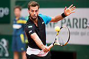 Paris, France. Roland Garros. June 1st 2013.<br /> French player Benoit PAIRE against Kei NISHIKORI