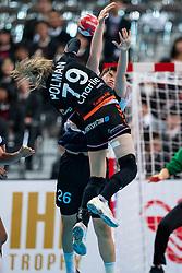 11-12-2019 JAP: Netherlands - Korea, Kumamoto<br /> Last match Main Round Group1 at 24th IHF Women's Handball World Championship, Netherlands win the last match against Korea with 36 - 24. / Estavana Polman #79 of Netherlands, Sora Kim #26 of Korea