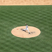 Pitcher Mariano Rivera pitching for the New York Yankees during the New York Yankees V Detroit Tigers Major League Baseball regular season baseball game at Yankee Stadium, The Bronx, New York. 11th August 2013. Photo Tim Clayton