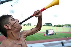 23.06.2010, Olympiapark, Muenchen, GER, FIFA Worldcup, Puplic Viewing Ghana vs Deutschland  im Bild Fan mit wuwusela. EXPA Pictures © 2010, PhotoCredit: EXPA/ nph/ Straubmeier