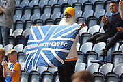 Preston North End fan during the Sky Bet Championship match between Preston North End and Leeds United at Deepdale, Preston, England on 7 May 2016. Photo by Pete Burns.