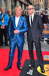 Bula Quo UK film premiere.  <br /> Rick Parfitt and Francis Rossi attend premiere of Status Quo action film featuring 12 of the rock band's classic tracks. Directed by former stunt co-ordinator Stuart St Paul, starring Jon Lovitz, Craig Fairbrass, Laura Aikman and the band members themselves. Released July 5. Odeon West End, London, United Kingdom.<br /> Monday, 1st July 2013<br /> Picture by Nils Jorgensen / i-Images