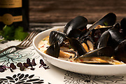 Bowl of Mussels by Rodney Bedsole, a food photographer based in Nashville and New York City.