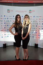 LIVERPOOL, ENGLAND - Tuesday, May 19, 2015: Models on the red carpet for the Liverpool FC Players' Awards Dinner 2015 at the Liverpool Arena. (Pic by David Rawcliffe/Propaganda)