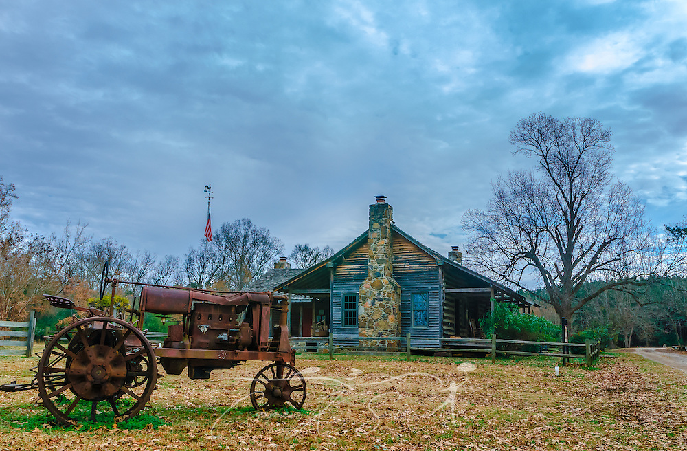 French Camp's Alumni Museum is housed in an 1885 dogtrot cabin. The museum features memorabilia from French Camp Academy's 125-year history. (Photo by Carmen K. Sisson/Cloudybright)