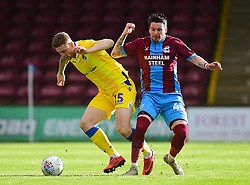 James Clarke of Bristol Rovers is fouled by Anthony McMahon of Scunthorpe United - Mandatory by-line: Alex James/JMP - 09/03/2019 - FOOTBALL - Glanford Park - Scunthorpe, England - Scunthorpe United v Bristol Rovers - Sky Bet League One