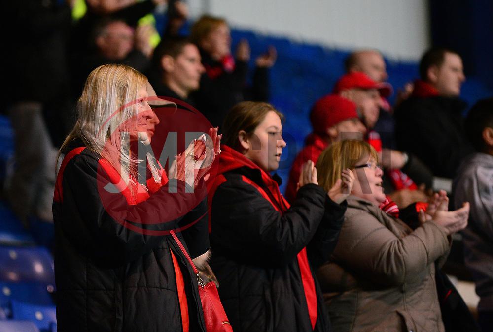 Fleetwood Town fans applaud their team - Mandatory by-line: Dougie Allward/JMP - 05/04/2017 - FOOTBALL - Kassam Stadium - Oxford, England - Oxford United v Fleetwood Town - Sky Bet League One