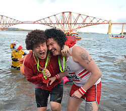 Fancy dress was the order of the day at the annual Loony Dook in the Forth on New Years Day.<br /> <br /> &copy; Dave Johnston/ EEm