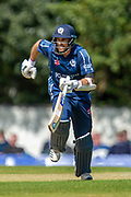 Scotland captain and opening batsman Kyle Coetzer runs between the wickets during the One Day International match between Scotland and Afghanistan at The Grange Cricket Club, Edinburgh, Scotland on 10 May 2019.