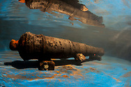 A 17th century cannon found on a shipwreck in Panama.