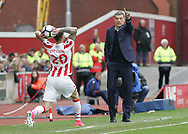 Slaven Bilic, manager of West Ham United on the touchline during the Premier League match against Stoke City at the Bet 365 Stadium, Stoke-on-Trent.<br /> Picture by Michael Sedgwick/Focus Images Ltd +44 7900 363072<br /> 29/04/2017