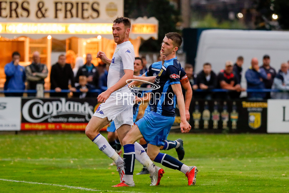 Leeds United Ryan Edmondson (14) turns the ball goal wards during the Pre-Season Friendly match between Tadcaster Albion and Leeds United at i2i Stadium, Tadcaster, United Kingdom on 17 July 2019.