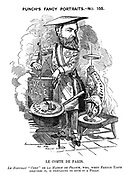"Punch's Fancy Portraits. - No. 155. Le Comte de Paris. Le nouveau ""chef"" de la Maison de France, who, when French taste requires it, is preparing to give it a fillip."
