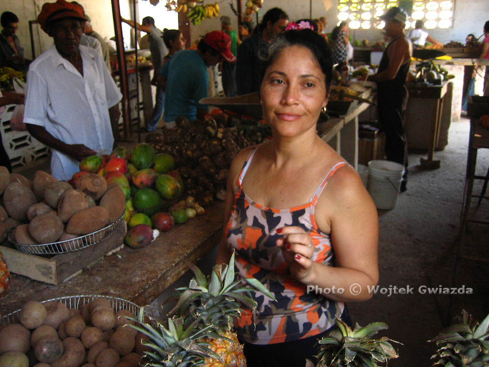Fruit and vegetable seller in Holguin, Cuba.