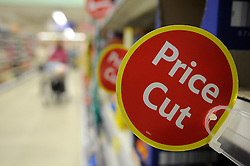 "© under license to London News Pictures. 09/12/14. FILE PICTURE: Tesco has warned today 9th December 2014, its full-year profits will be substantially below market expectations. The supermarket chain said its group trading profit for the full financial year ""will not exceed £1.4bn"", below the £1.8bn to £2.2bn range expected by markets. The downgraded guidance follows its admission earlier this year that it had misstated its profits by £263m. Picture credit Grant Falvey/LNP"