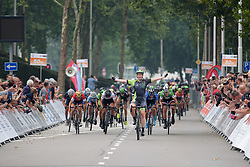 Kirsten Wild wins sprint finish ahead of Maria Giulia Confalonieri and Lisa Brennauer at Boels Rental Ladies Tour Stage 1 a 132.8 km road race from Eibergen to Arnhem, Netherlands on August 30, 2017. (Photo by Sean Robinson/Velofocus)