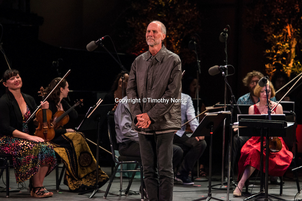 "Composer John Luther Adams on stage after the performance of ""for Lou Harrison"" at Libbey Bowl on June 8, 2013 in Ojai, California."